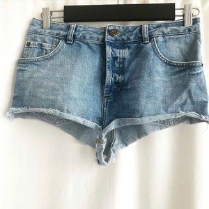 Topshop Moto Denim Shorts